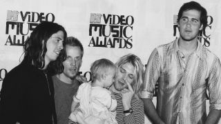Nirvana at the MTV Video Awards, at the at the Gibson Amphitheatre, Los Angeles, 2nd September 1993