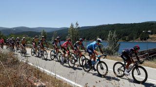 Primoz Roglic y otros ciclistas durante la Vuelta a España 2021