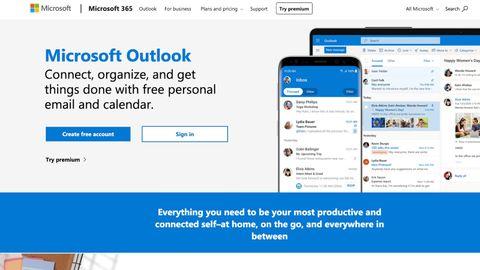 Microsoft Outlook's homepage