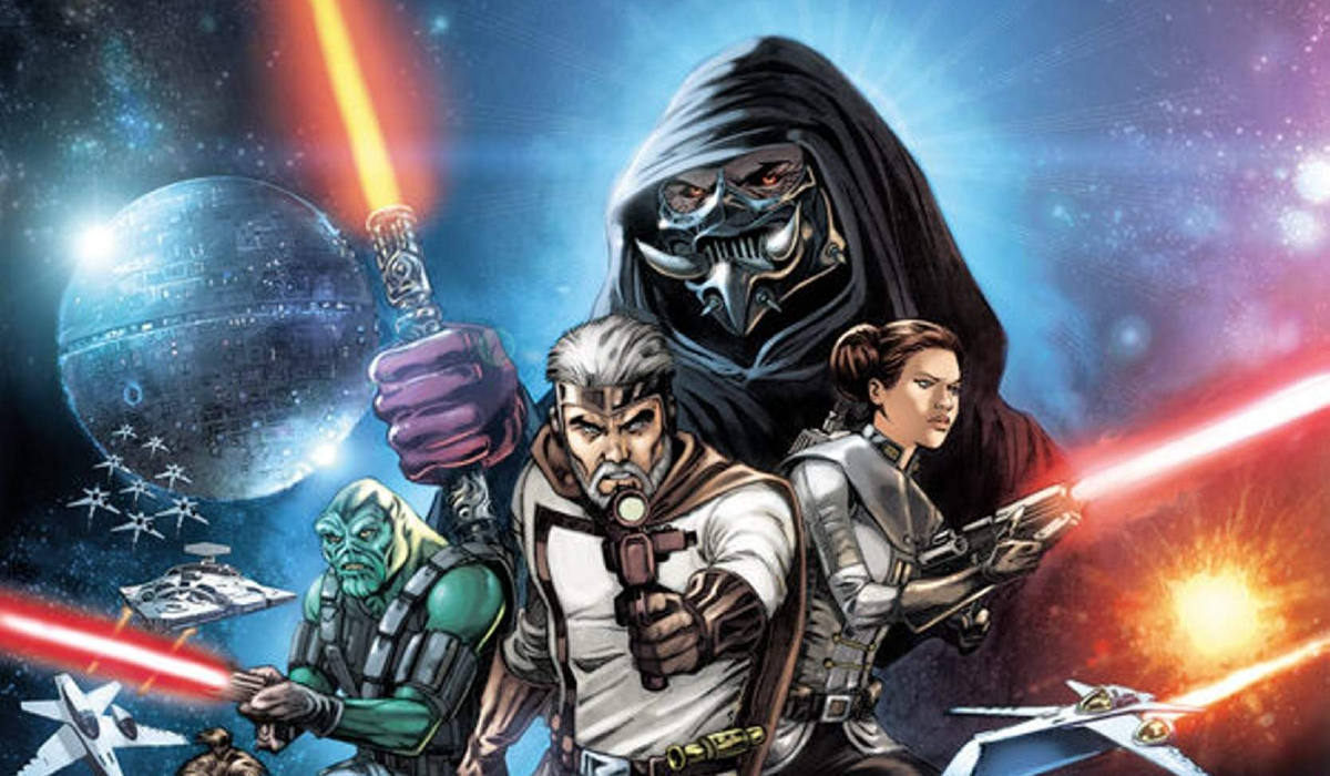 The Star Wars cover art with alternate characters