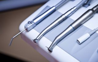 Stock photo of dental instruments