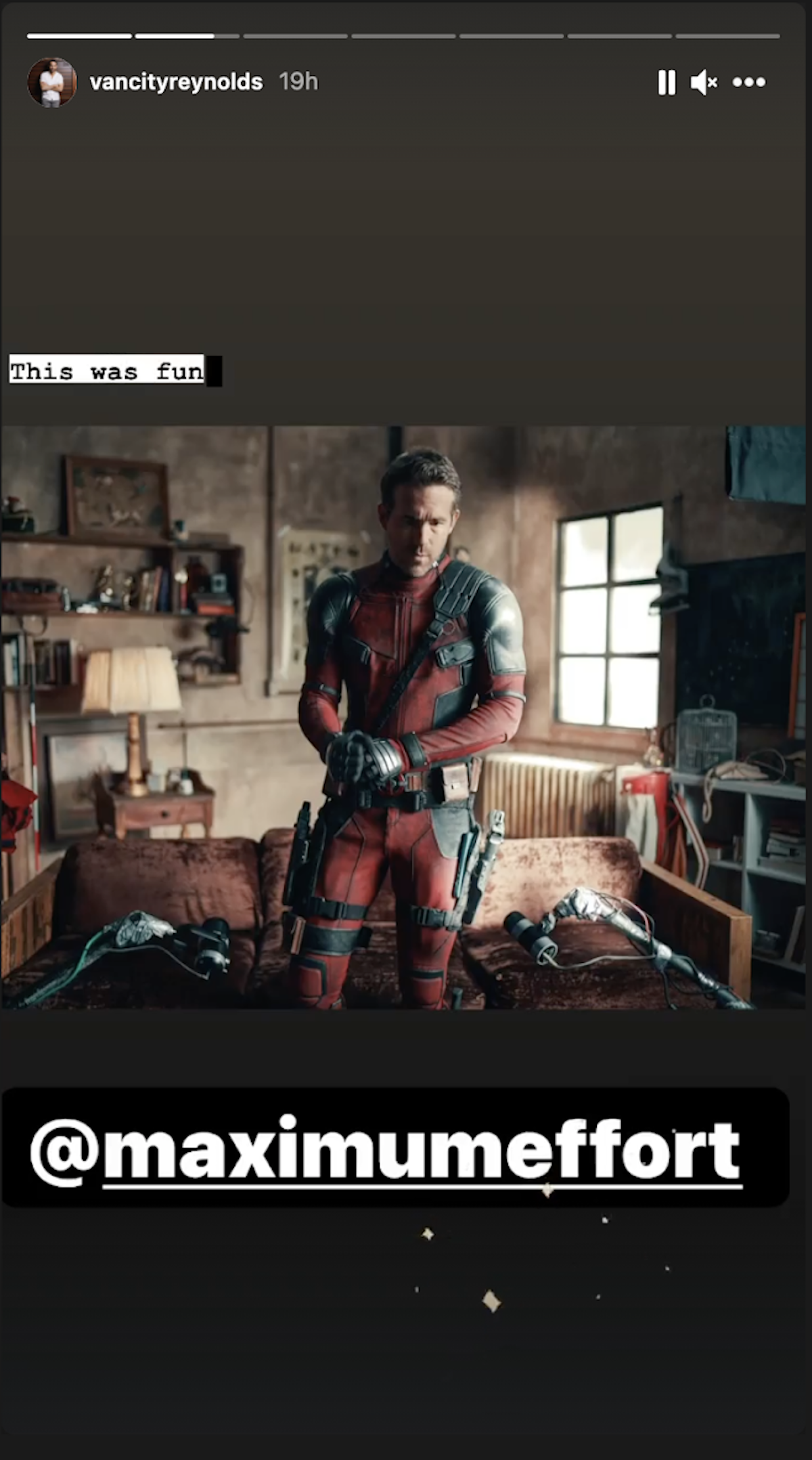 Ryan Reynolds celebrates Deadpool joining the MCU.