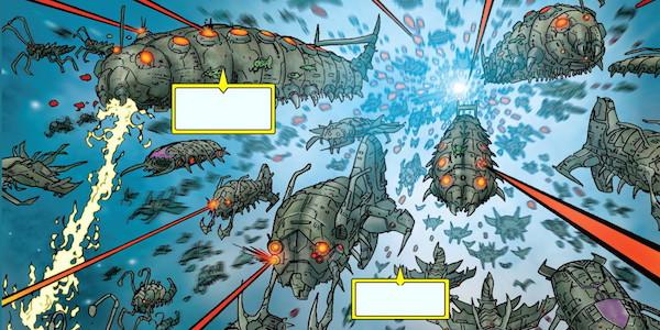 Annihilation Wave bug ships comics