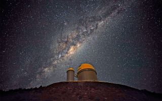 Milky Way over La Silla telescope, Chile