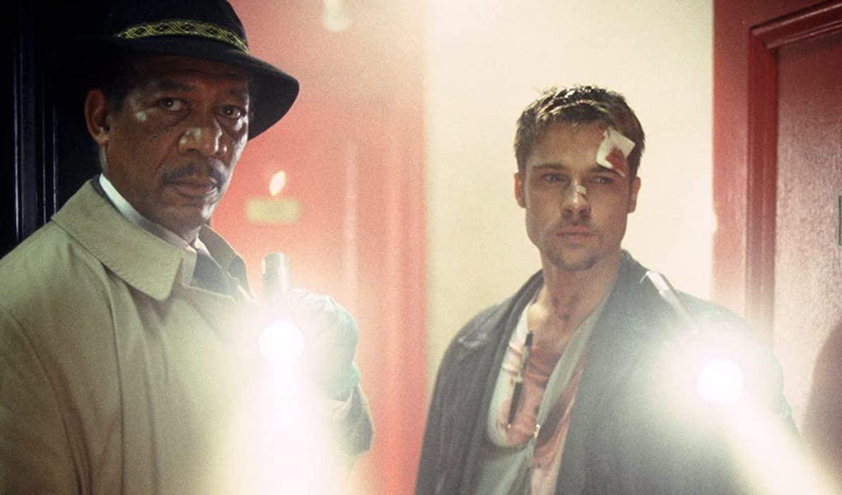 Morgan Freeman and Brad Pitt in Se7en