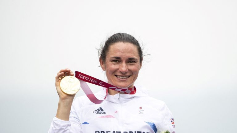 Dame Sarah Storey claimed the incredible title at the 2020 Tokyo Paralympics yesterday
