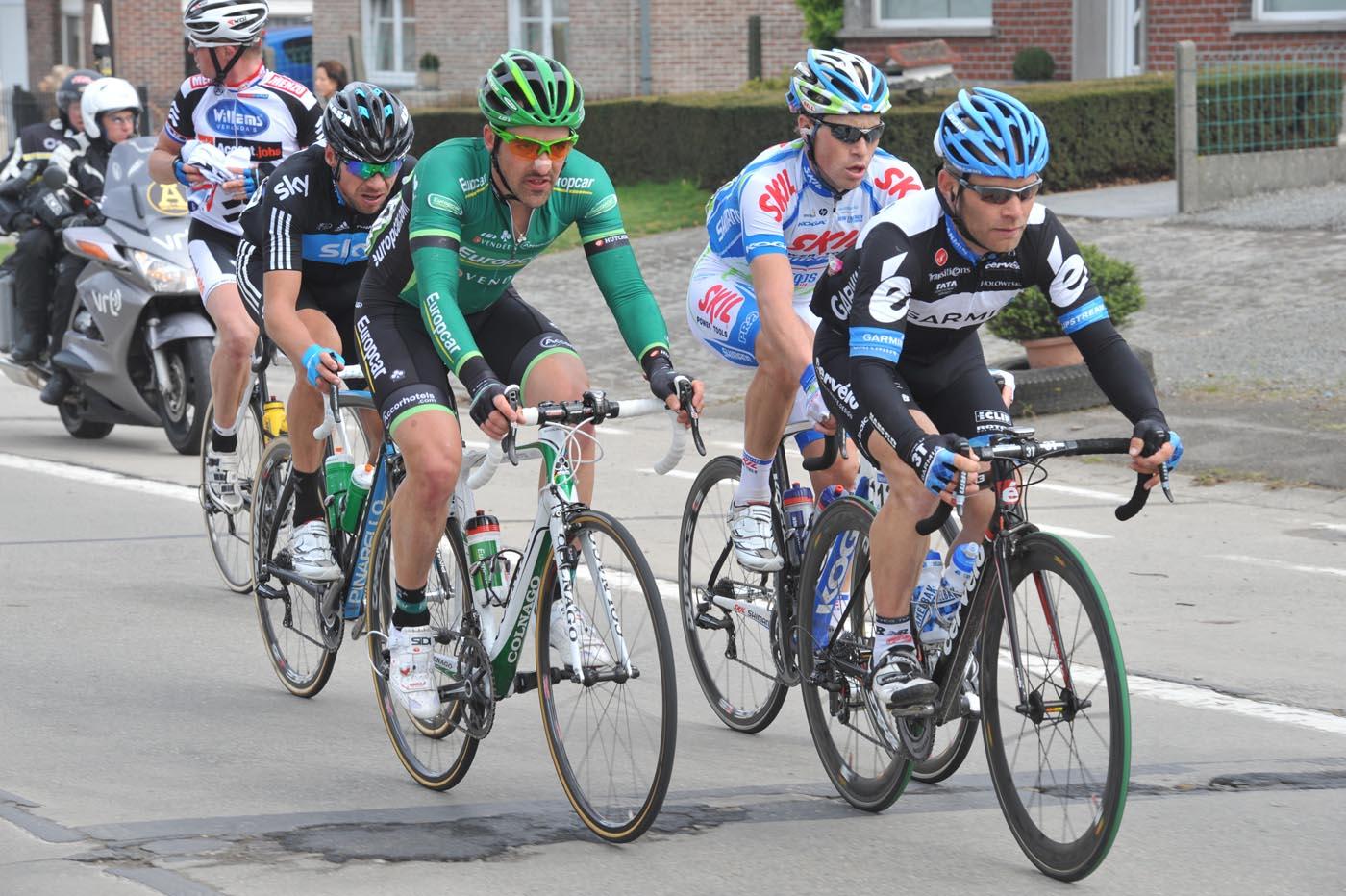 Roger Hammond escape, Tour of Flanders 2011