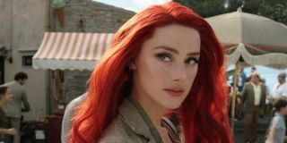 Aquaman Amber Heard looking over with concern