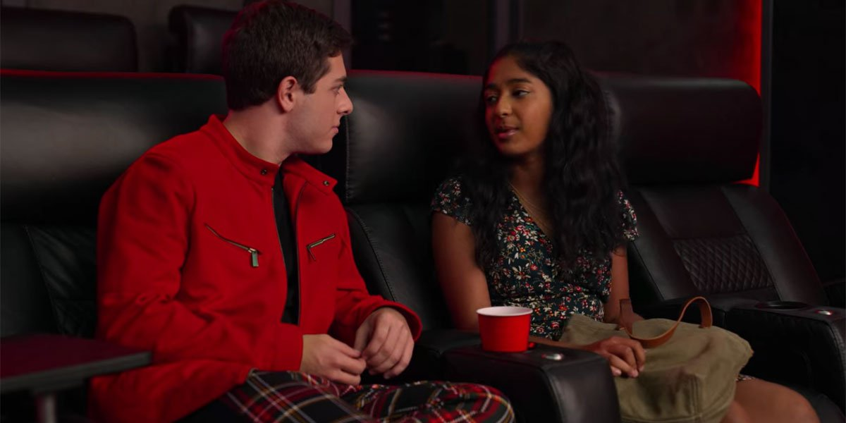 Ben and Devi in Never have I Ever love triangle