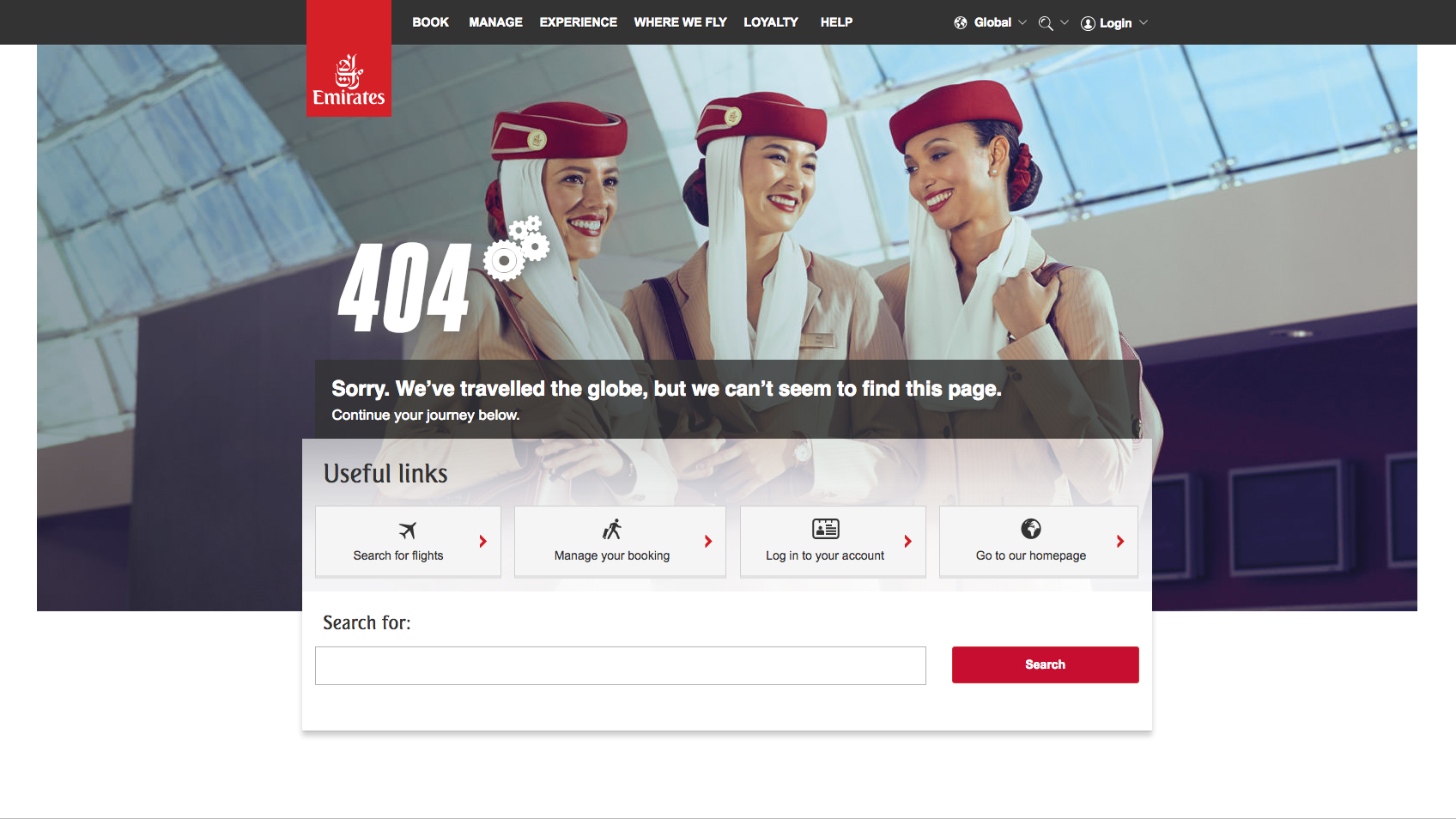 emirates 404 page