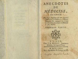 "Cover of the book ""Anecdotes de Médecine."""