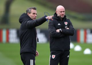 Albert Stuivenberg (left) has left his role as assistant coach to the Wales national team.