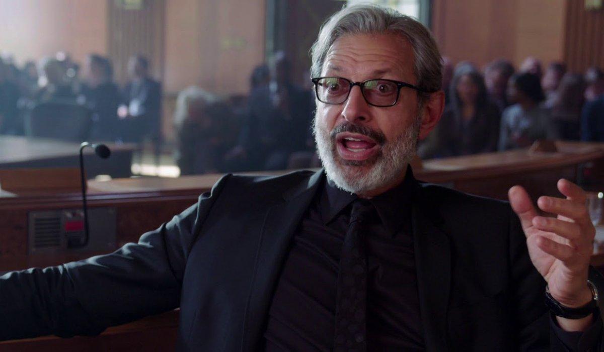 Jurassic World: Fallen Kingdom Jeff Goldblum testifying in court