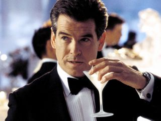 Pierce Brosnan as James Bond drinking a martini in Die Another Day