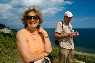 older adults on vacation