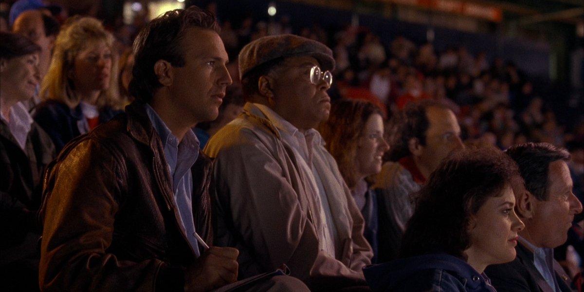Kevin Costner and James Earl Jones in Field of Dreams