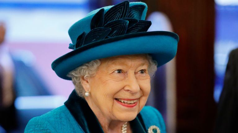 Queen Elizabeth visits the new headquarters of the Royal Philatelic society on November 26, 2019 in London, England
