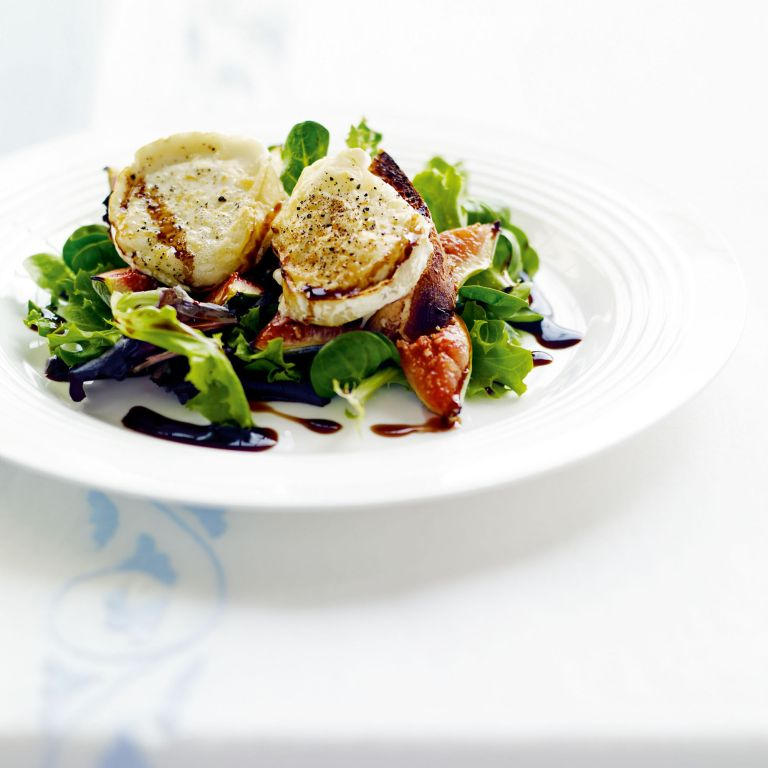 Melted Goats' Cheese with Figs and Balsamic Recipe-recipe ideas-new recipes-woman and home