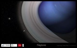Neptune Giving Birth to Satellite System #1