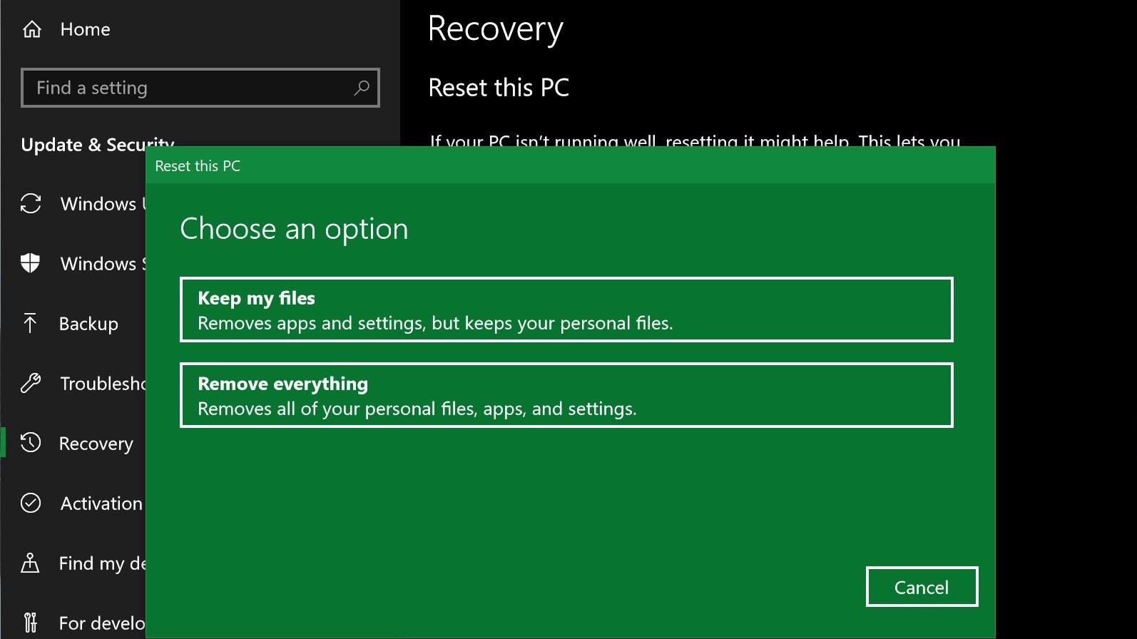 How to factory reset Windows 10 | TechRadar