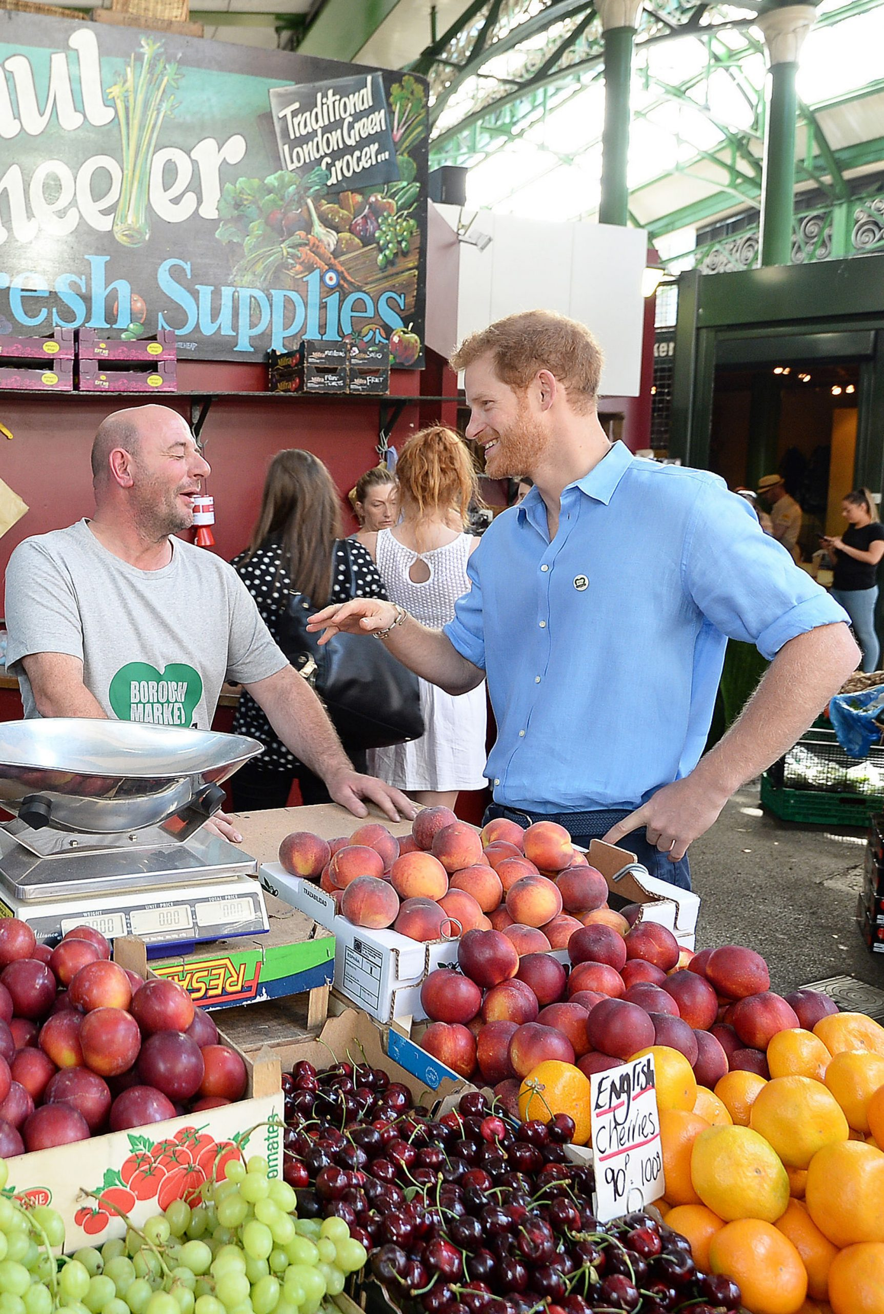 Prince Harry in Borough Market