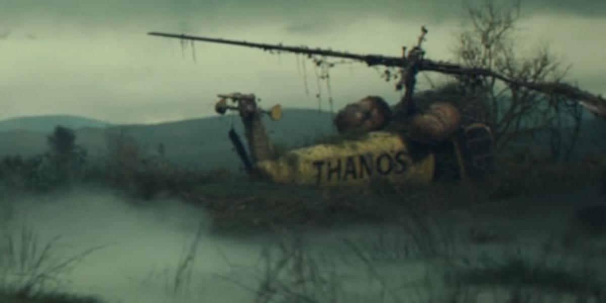 the thanos-copter in loki episode 5