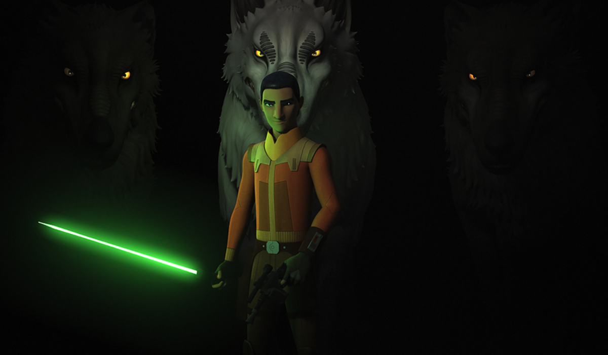 ezra bridger star wars rebels loth wolves lightsaber