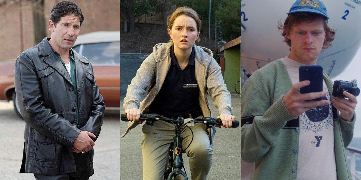 Jon Bernthal in The Many Saints of Newark; Kaitlyn Dever in Unbelievable; Lucas Hedges in Let Them All Talk