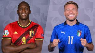 Jalkapallon EM-kisat Belgia Italia