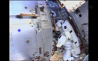 NASA astronaut Chris Cassidy and Italian astronaut Luca Parmitano planned to spend more than six hours spacewalking outside the International Space Station on July 16, 2013. But NASA cut the spacewalk short after just an hour due to a water build up insid