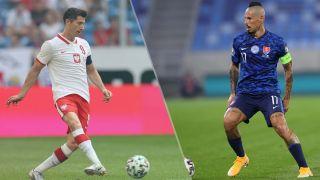 Poland vs Slovakia live stream at Euro 2020 — Robert Lewandoski and Marek Hamsik
