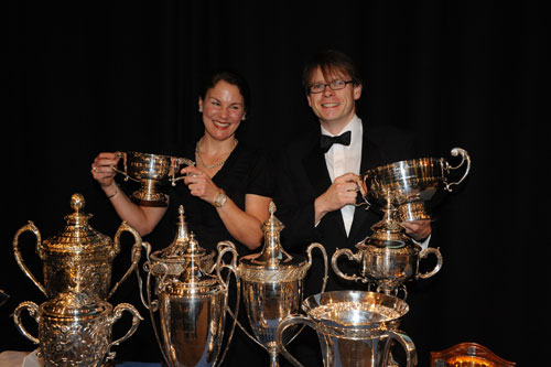 Julia Shaw and Michael Hutchinson, champion of champions, CTT Champions' Night 2010