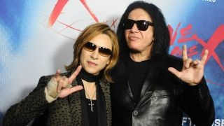 Yoshiki and Gene Simmons at the We Are X Hollywood premiere