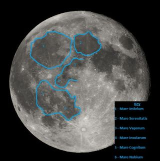 "One possible interpretation of lunar surface seen from Earth forming the ""Man in the Moon"""