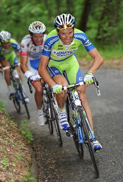 Ivan Basso attack, Giro d'Italia 2010, stage 19