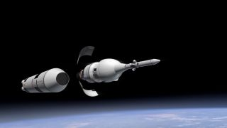 Orion Capsule's First Test Flight Illustration