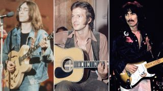 [L-R] John Lennon, Eric Clapton and George Harrison