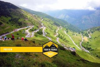 The Tour de France peloton will face this switchbacked ascent to the finish at Luz-Ardiden.
