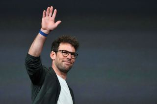 British cyclist Mark Cavendish arrives to take part in the official presentation of the 2022 Tour de France