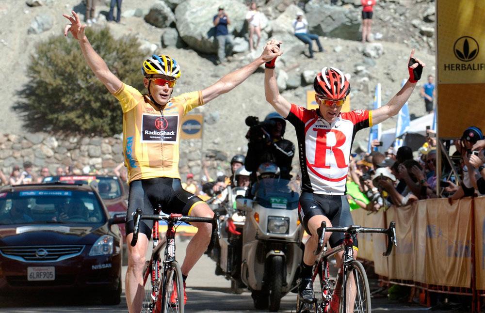 Chris Horner and Levi Leipheimer, Tour of California 2011, stage seven