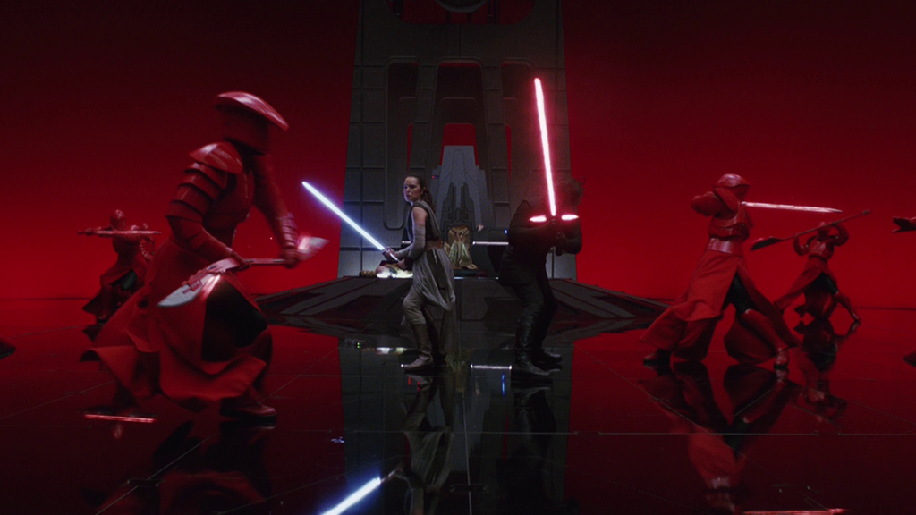 Star Wars: The Last Jedi fight scene