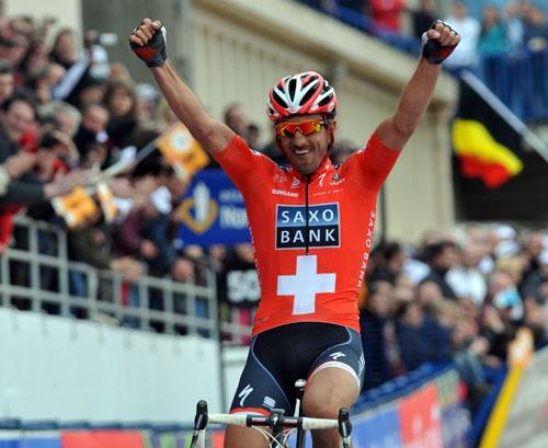 Fabian Cancellara wins Paris-Roubaix 2010