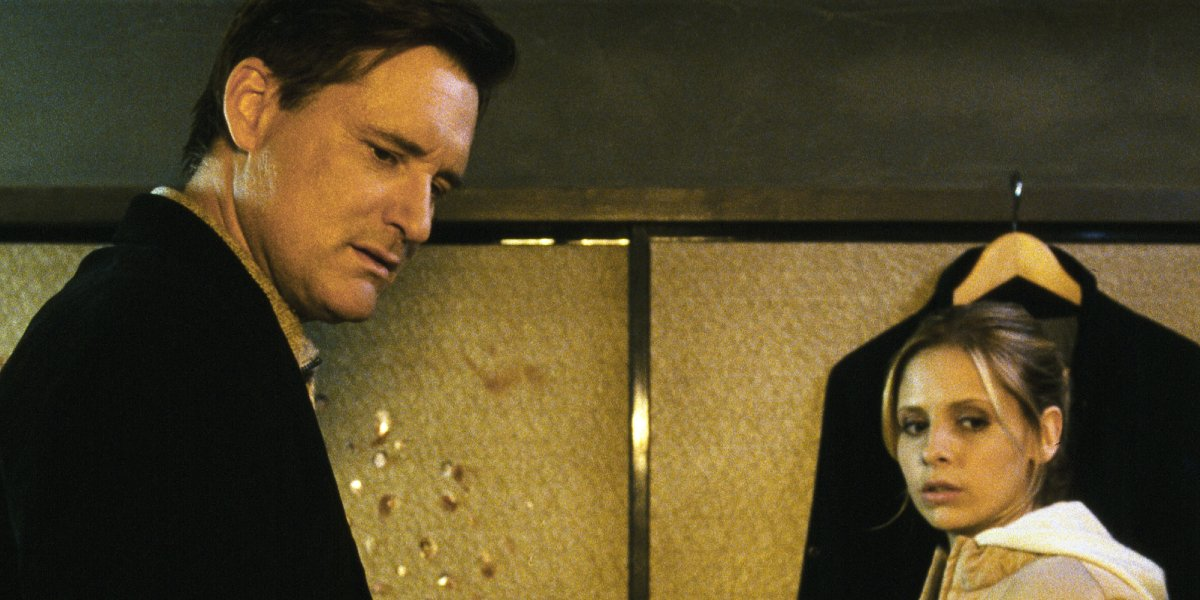 Bill Pullman and Sarah Michelle Gellar in The Grudge