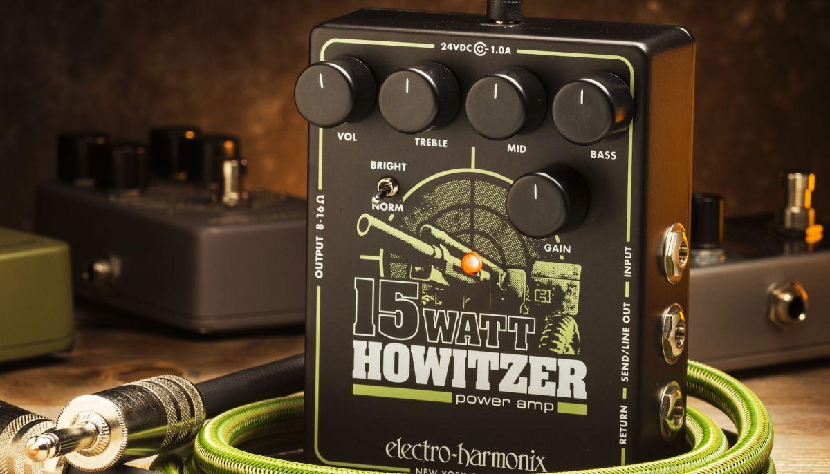 Electro-Harmonix Unveils New 15Watt Howitzer Preamp Pedal/Pedal Amp