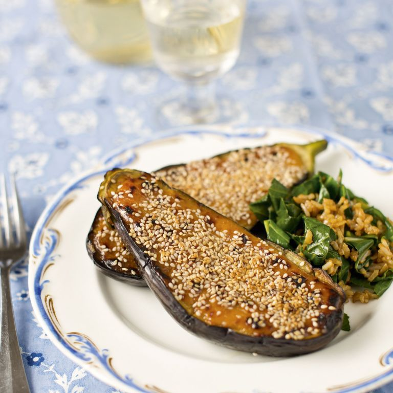 Photo of Grilled Aubergine with miso and sesame