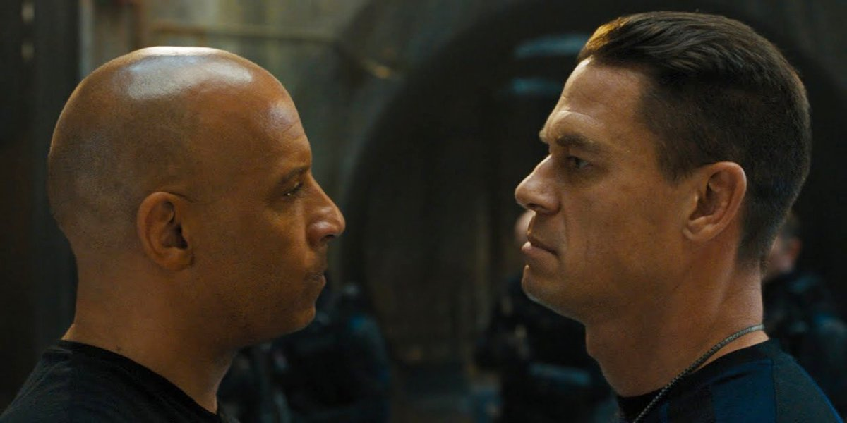 John Cena and Vin Diesel in F9