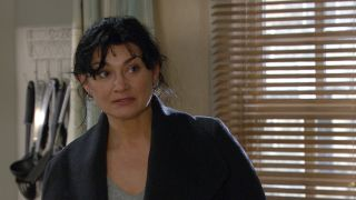 Moira is distraught in Emmerdale