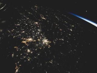 The Bohai Sea at night, taken by Shenzhou 12 astronaut Tang Hongbo.