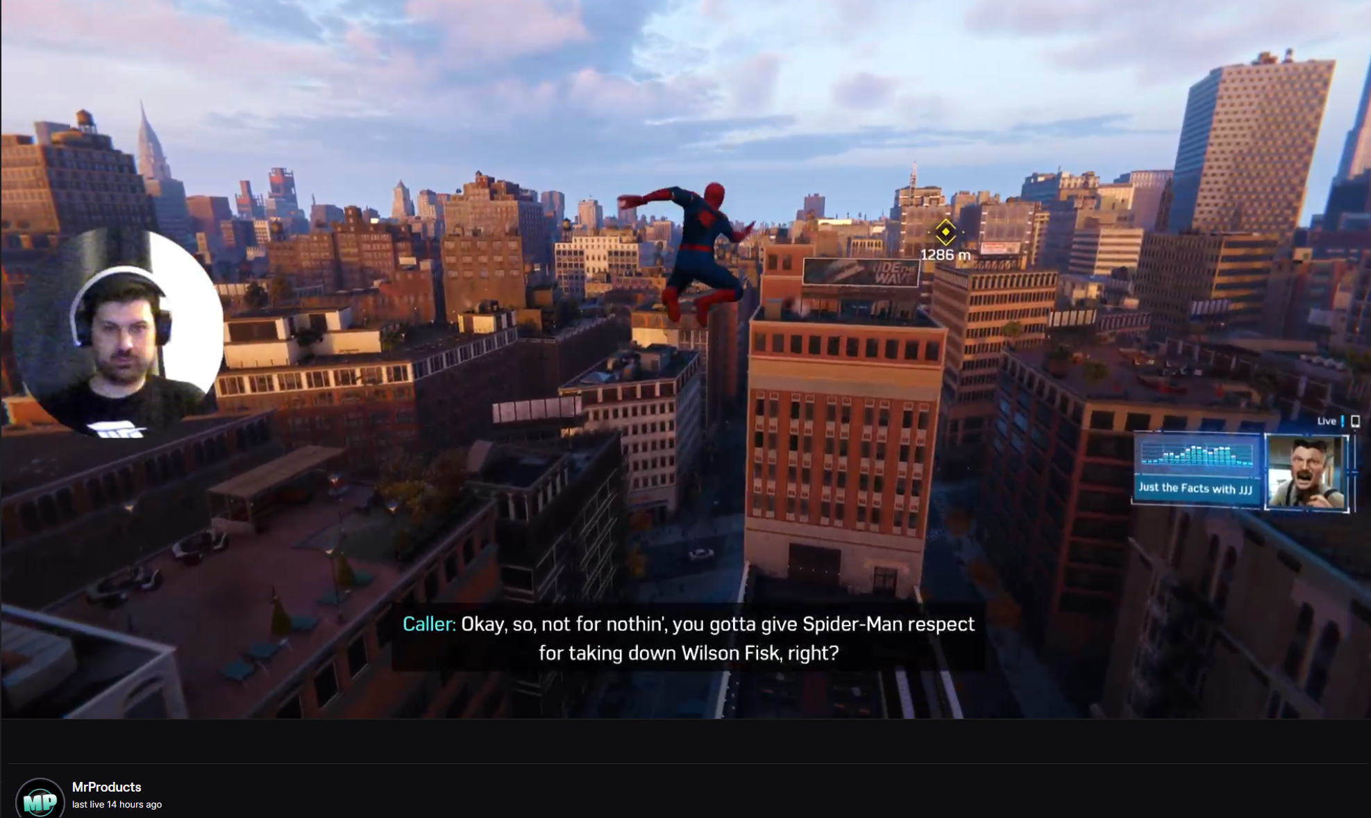 Marvel's Spider-Man Remastered swinging through NYC on Twitch