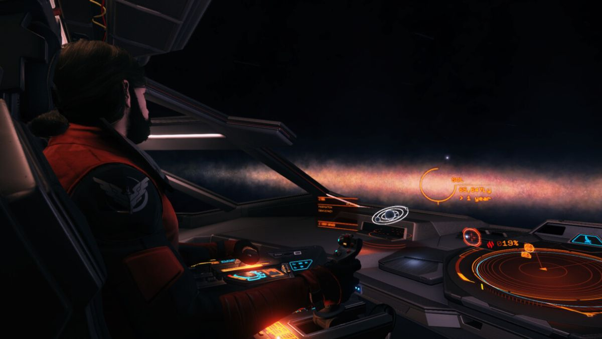 Elite Dangerous pilot completes record-breaking 85,000 light year voyage without a fuel scoop